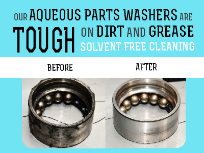 Parts Washer Cleaning Performance Before and After