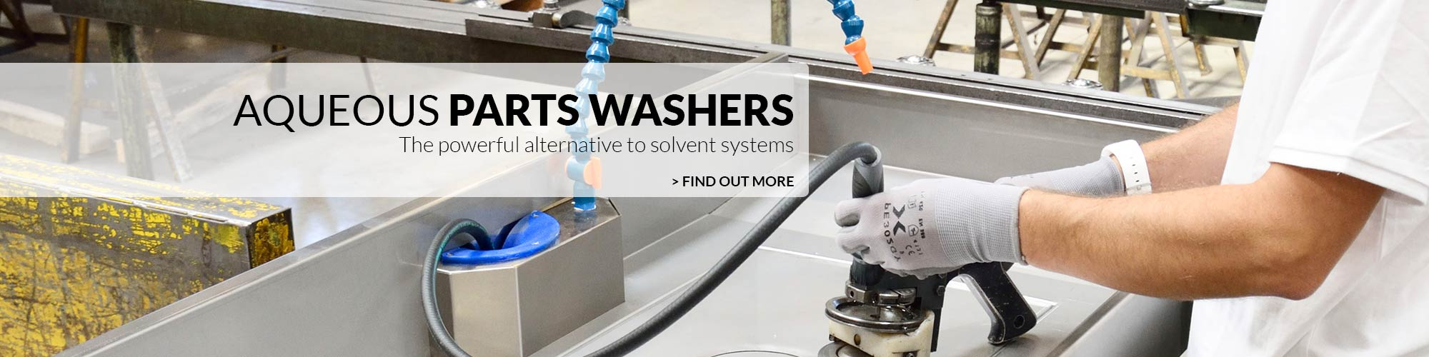 Solvent free parts washers