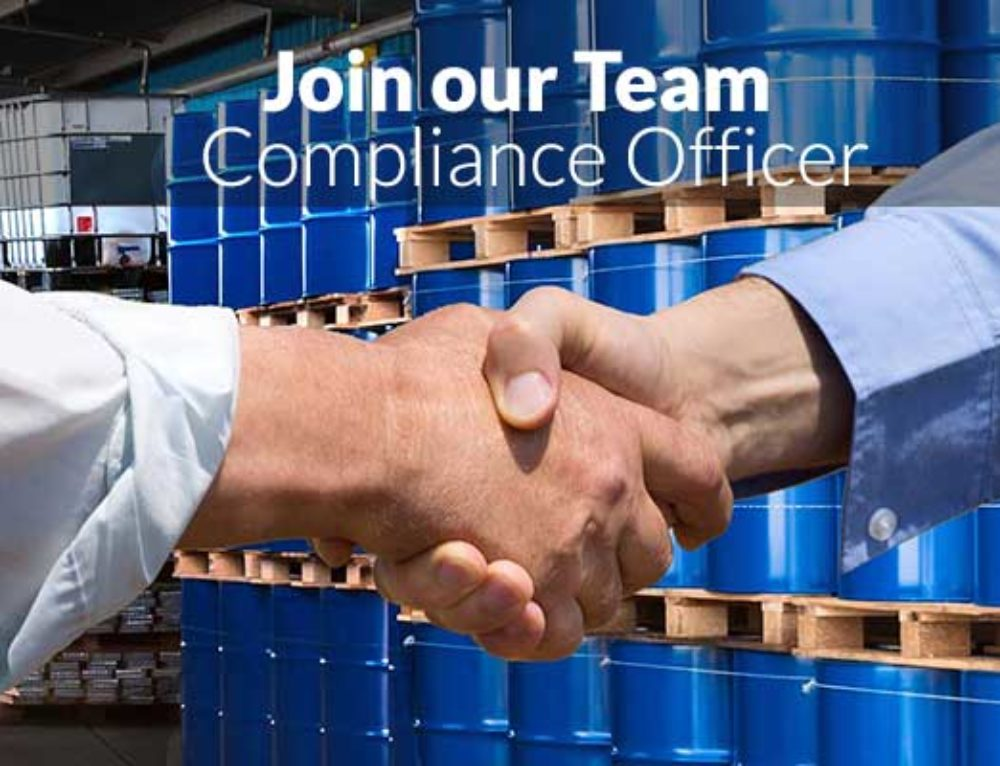 New Job: Compliance Officer