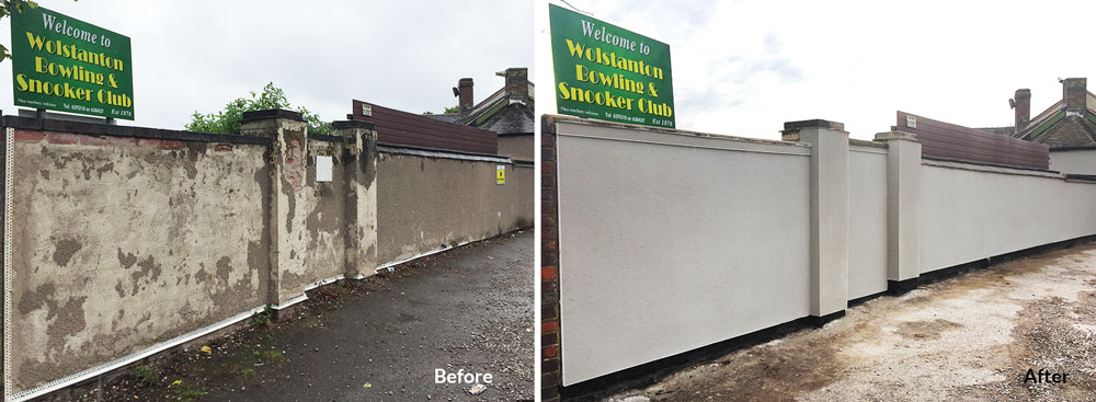 Wolstanton Bowling and Snooker Club Wall Repairs Landfill Communities Fund