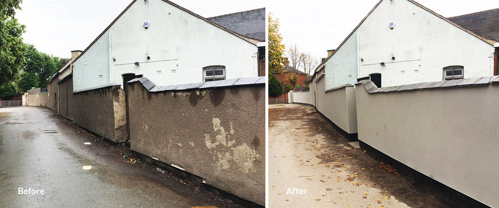 Wolstanton Bowling Club Wall Repairs Red Industries Landfill Communities Fund