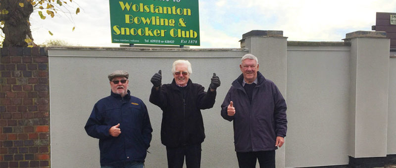 Landfill Communities Fund Wall Repairs Wolstanton Bowling and Snooker Club