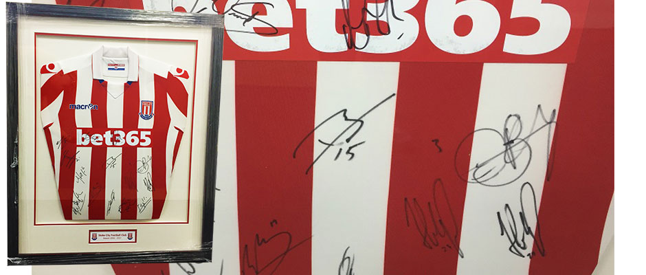 Signed Stoke City Shirt - Red Industries