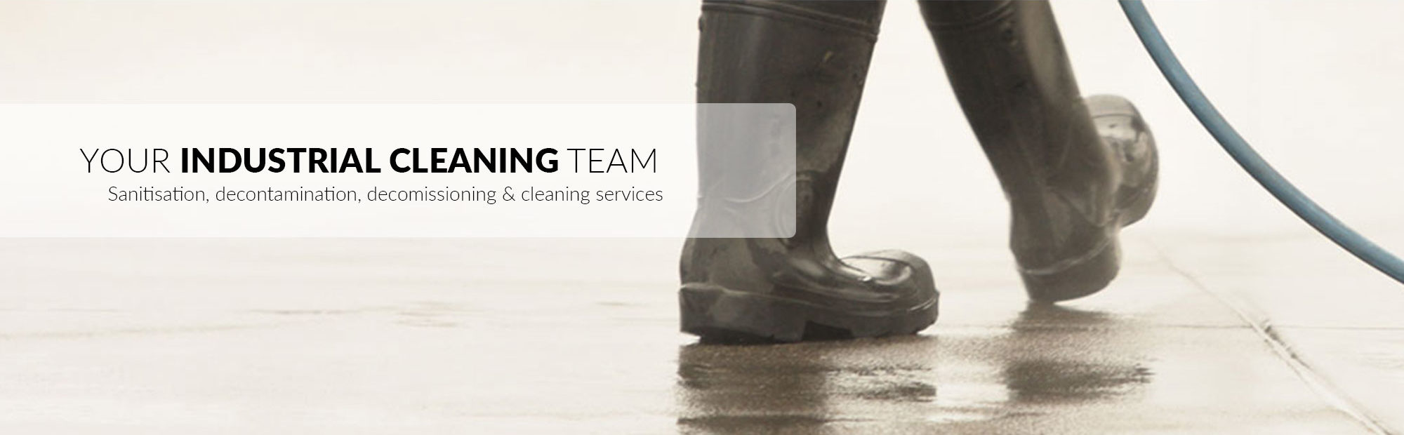 Industrial cleaning services including deep clean and sanitisation