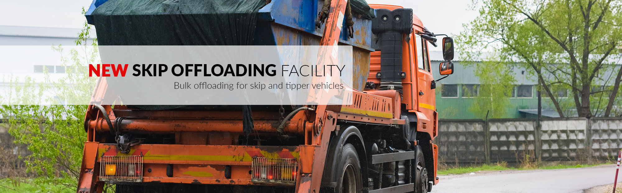 Skip offloading and processing station